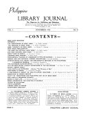 Philippine Library Journal