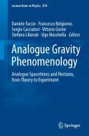 Pdf Analogue Gravity Phenomenology Telecharger