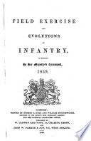 Field Exercise and Evolutions of Infantry  as revised     1859  Pocket edition