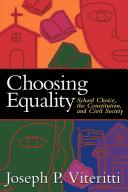Pdf Choosing Equality