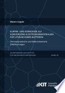 Kupfer- und Eisenoxide als Konversions-Elektrodenmaterialien fuer Lithium-Ionen-Batterien: Thermodynamische und Elektrochemische Untersuchungen