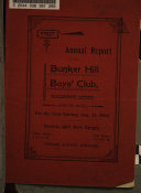 Annual Report of the Bunker Hill Boys  Club
