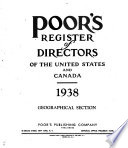 Poor's Register of Directors of the United States and Canada