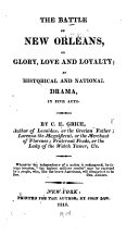 Pdf The Battle of New Orleans; Or, Glory, Love and Loyalty