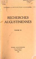 Recherches augustiniennes