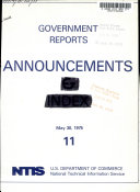 Government Reports Announcements Book