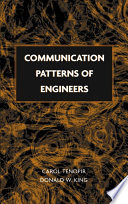 Communication Patterns Of Engineers Book PDF