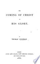 The Coming of Christ in His Glory