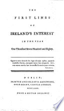The First Lines of Ireland s Interest in the Year One Thousand Seven Hundred and Eighty