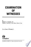 Examination of Witnesses