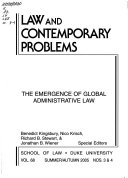 The Emergence Of Global Administrative Law