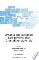 Organic and Inorganic Low Dimensional Crystalline Materials