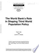 The World Bank S Role In Shaping Third World Population Policy