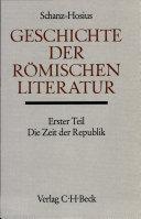 Die r  mische Literatur in der Zeit der Republik