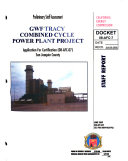 Preliminary Staff Assessment, GWF Tracy Combined Cycle Power Plant Project