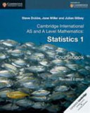 Books - Cambridge International Advanced Level Mathematics Statistics 1 | ISBN 9781316600382