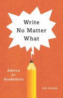Write No Matter What