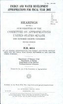 Energy and Water Development Appropriations for Fiscal Year 2005