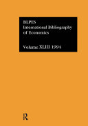 International Bibliography of Economics 1994