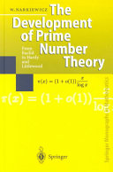The Development of Prime Number Theory: From Euclid to Hardy ...