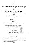 Pdf The Parliamentary History of England from the Earliest Period to the Year 1803