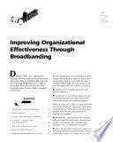 Improving organizational effectiveness through broadbanding