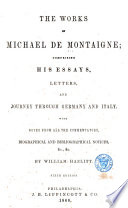 The Works of Michael de Montaigne