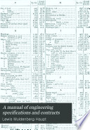 A Manual Of Engineering Specifications And Contracts Book PDF