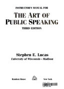 Instructor's manual for the Art of public speaking
