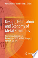 Design  Fabrication and Economy of Metal Structures Book