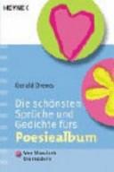 Die Schönsten Sprüche Und Gedichte Fürs Poesiealbum Von