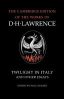Twilight in Italy and Other Essays