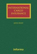 International Cargo Insurance [Pdf/ePub] eBook