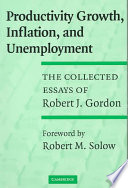 Productivity Growth  Inflation  and Unemployment Book