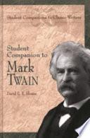 Student Companion to Mark Twain Book