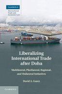 Pdf Liberalizing International Trade after Doha Telecharger