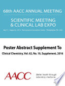 68th AACC Annual Scientific Meeting Abstract eBook Book