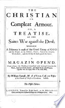 The Christian In Compleat Armour Or A Treatise Of The Saints War Against The Devil The Fifth Edition