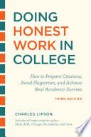 Doing Honest Work in College, Third Edition
