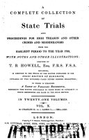 Pdf A Complete Collection of State Trials and Proceedings for High Treason and Other Crimes and Misdemeanors from the Earliest Period to the Year 1783