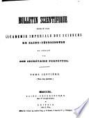 Bulletin scientifique publié par l'Académie impériale des sciences de Saint-Pétersbourg