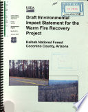 Kaibab National Forest  N F    Warm Fire Recovery Project