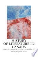 History of Literature in Canada Book