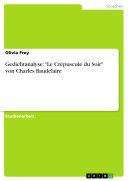 """Gedichtanalyse: """"Le Crépuscule du Soir"""" von Charles Baudelaire"""
