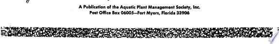 Journal of Aquatic Plant Management