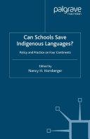 Can Schools Save Indigenous Languages