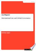 International Law And Global Governance