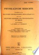 Physikalische Berichte