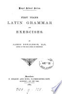 First year s Latin grammar and exercises