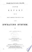 Fifth Report from the Select Committee of the House of Lords on the Sweating System